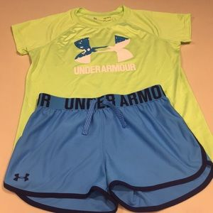 Under Armour shorts & top YLG